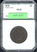 Additional Certified Coins: , 1810 Cent Fine 12 PCI. S-285, R.2. Smooth and problem-free, the...
