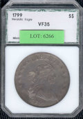 Additional Certified Coins: , 1799 $1 Dollar VF 35 PCI. B-17, BB-164. Quite smooth for an e...