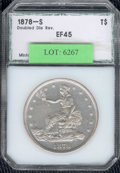 Additional Certified Coins: , 1878-S $1 Trade Dollar XF 45 PCI. Doubled Die Reverse. The do...