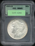 Additional Certified Coins: , 1921-S $1 Dollar MS 65 ICG. Mostly brilliant, the surfaces ar...