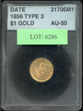 Additional Certified Coins: , 1856 Gold Dollar AU 50 ACCUGRADE. Although somewhat more subdue...