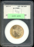 Additional Certified Coins: , 1911 $10 Eagle MS 63 IGS. Sharply struck, the coin displays a ...