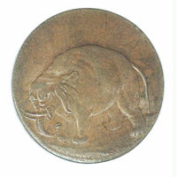 Undated (1672-1694) Elephant Token MS 64 Brown PCGS. Thick Planchet. Breen-186. Both obverse and reverse of this glossy...