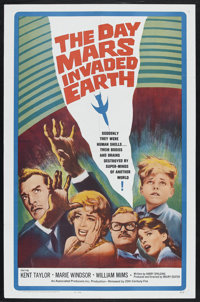 "The Day Mars Invaded Earth (20th Century Fox, 1963). One Sheet (27"" X 41""). Science Fiction. Starring Kent Tay..."