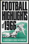 "Movie Posters:Sports, Football Highlights of 1966 (Universal, 1966). One Sheet (27"" X 41""). Sports. This is a Universal short subject sports film ..."