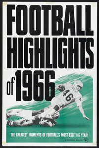 "Football Highlights of 1966 (Universal, 1966). One Sheet (27"" X 41""). Sports. This is a Universal short subjec..."