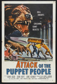 "Attack of the Puppet People (American International, 1958). One Sheet (27"" X 41""). American International Pict..."