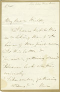 "Autographs:Military Figures, General William S. Rosecrans Autograph Note Signed ""W.S.Rosecrans Brig. Genl. U.S.A."" One page, 7.5"" x 6.25"", NewCree..."