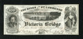 "Canadian Currency: , Montreal, PQ- Banks of the St. Lawrence 100 Views circa 1860s. This is a great advertising note that plays on the word ""Bank..."