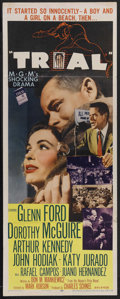"""Movie Posters:Drama, Glenn Ford Lot (Various, 1955). Insert (14"""" X 36"""") and British Quad(30"""" X 40""""). Included in this lot is an insert for """"Tria... (Total:2 Items)"""