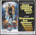 "Movie Posters:James Bond, Diamonds Are Forever (United Artists, 1971). Six Sheet (81"" X 81"").James Bond. Starring Sean Connery, Jill St. John, Charle..."