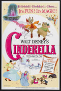 "Movie Posters:Animated, Cinderella (RKO, R-1973). One Sheet (27"" X 41""). Animated. Starringthe voices of Ilene Woods, Eleanor Audley, Luis Van Root..."