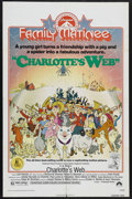 """Movie Posters:Animated, Charlotte's Web (Paramount, R-1974). One Sheet (27"""" X 41""""). Animation. Starring Debbie Reynolds, Paul Lynde, Henry Gibson an..."""