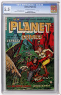 Golden Age (1938-1955):Science Fiction, Planet Comics #73 (Fiction House, 1953) CGC FN- 5.5 Off-white towhite pages....