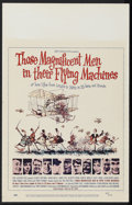 "Movie Posters:Adventure, Those Magnificent Men in Their Flying Machines (20th Century Fox,1965). Window Card (14"" X 22""). Comedy. Starring Red Skelt..."