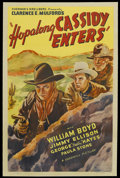 "Movie Posters:Western, Hopalong Cassidy Enters (Screen Guild, R-1946). One Sheet (27"" X41""). Western. Re-release of ""Hop-a-long Cassidy,"" the firs..."