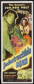 "Movie Posters:Horror, Indestructible Man (Allied Artists, 1956). Insert (14"" X 36"").Science Fiction. Starring Lon Chaney, Jr., Marian Carr, Casey..."
