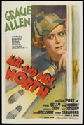 "Movie Posters:Comedy, Mr. and Mrs. North (MGM, 1942). One Sheet (27"" X 41""). MysteryComedy. Starring Gracie Allen, William Post, Jr., Paul Kelly,..."
