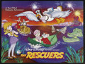 "Movie Posters:Animated, The Rescuers (Buena Vista, 1977). British Quad (30"" X 40""). Animated Adventure. Starring the voices of Bob Newhart, Eva Gabo..."