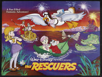 "The Rescuers (Buena Vista, 1977). British Quad (30"" X 40""). Animated Adventure. Starring the voices of Bob New..."