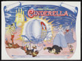 "Movie Posters:Animated, Cinderella (Buena Vista, R-1970s). British Quad (30"" X 40"").Animated Musical. Starring the voices of Ilene Woods, Eleanor A..."