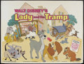 "Movie Posters:Animated, Lady and the Tramp (Buena Vista, R-1970s). British Quad (30"" X40""). Animated Musical. Starring the voices of Barbara Luddy,..."