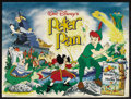 "Movie Posters:Animated, Peter Pan (Buena Vista, R-1970s). British Quad (30"" X 40"").Animated Adventure. Starring the voices of Bobby Driscoll, Kathr..."