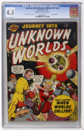 Golden Age (1938-1955):Science Fiction, Journey Into Unknown Worlds #37 (#2) (Atlas, 1950) CGC VG+ 4.5Cream to off-white pages....