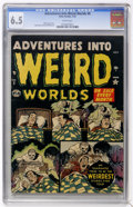 Golden Age (1938-1955):Horror, Adventures Into Weird Worlds #8 (Atlas, 1952) CGC FN+ 6.5 Whitepages....