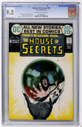 Bronze Age (1970-1979):Horror, House of Secrets #99 (DC, 1972) CGC NM- 9.2 Off-white to white pages....