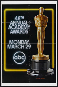 "Academy Awards Poster (AMPAS, 1976). One Sheet (27"" X 41""). The 48th Annual Academy Awards took place on March..."