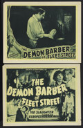 "Movie Posters:Horror, The Demon Barber of Fleet Street (Select Attractions, 1939). Title Lobby Card (11"" X 14"") and lobby card (11"" X 14""). Horror... (Total: 2 Items)"