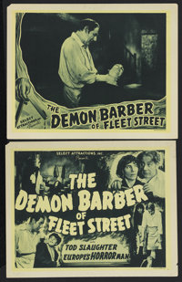 "The Demon Barber of Fleet Street (Select Attractions, 1939). Title Lobby Card (11"" X 14"") and lobby card (11&q..."