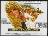 "Far from the Madding Crowd (MGM, 1967). British Quad (30"" X 40""). Romance. Starring Julie Christie, Terence St..."