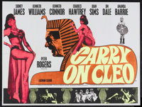 "Carry on Cleo (Anglo Amalgamated, 1964). British Quad (30"" X 40""). Comedy. Starring Sidney James, Kenneth Will..."