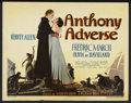 """Movie Posters:Adventure, Anthony Adverse (Warner Brothers, 1936). Title Lobby Card (11"""" X14""""). Adventure. Starring Fredric March, Olivia de Havillan..."""