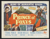 "Prince of Foxes (20th Century Fox, 1949). Title Lobby Card (11"" X 14""). Adventure. Starring Tyrone Power, Orso..."