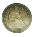 Proof Seated Dollars: , 1847 S$1