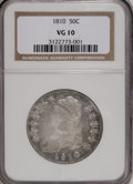 Bust Half Dollars: , 1810 50C VG10 NGC. NGC Census: (7/397). PCGS Population (1/403).Mintage: 1,276,276. Numismedia Wsl. Price for NGC/PCGS coi...