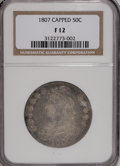 Bust Half Dollars: , 1807 50C Large Stars, 50 Over 20 F12 NGC. NGC Census: (4/339). PCGSPopulation (3/257). Mintage: 750,500. Numismedia Wsl. P...
