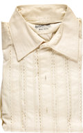 Music Memorabilia:Costumes, Bobby Darin's Tailored Shirt with Signed Photo and Other Items. Acustom tailored white dress shirt by Nat Wise of London an...(Total: 1 Item)