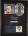 Music Memorabilia:Awards, Elvis Presley The Top Ten Hits RIAA Platinum CD Award.Presented to Chris Taylor to commemorate the sale of more...(Total: 1 Item)