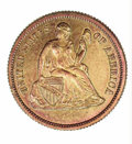 1869 Ten Cents, Judd-715, Pollock 794, R.7, PR 65 Lacquered 37.49 grains. The obverse is similar to the regular issue, b...