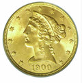 Liberty Half Eagles: , 1900 $5