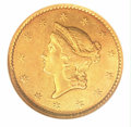Gold Dollars: , 1849-C G$1 OP.WREATH