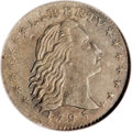 Early Half Dimes, 1795 H10C --Improperly Cleaned--NCS. AU Details....