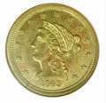 Liberty Quarter Eagles: , 1843-C $2 1/2 SM DATE