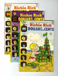 Bronze Age (1970-1979):Humor, Richie Rich Dollars and Cents File Copy Group (Harvey, 1972-74)Condition: Average NM-.... (Total: 9 Comic Books)