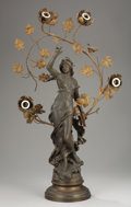 Bronze:European, After AUGUSTE MOREAU (French, 1834-1917). Néréïde, Late19th-Early 20th Century. Signed in maquette: Aug Moreau...