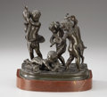 Bronze:European, After CLODION (French, 1738-1814). Bacchantes Playing, Late19th-Early 20th Century. Bronze. 8-3/4 inches (22.2 cm) high...